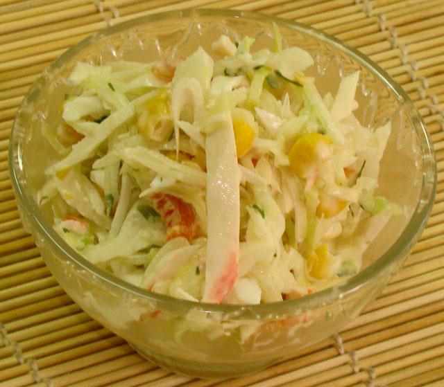 Крабовый салат классический калорийность